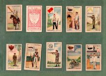 Tobacco very old Thai Cigarette cards set SIAM Military San Ching RARE complete